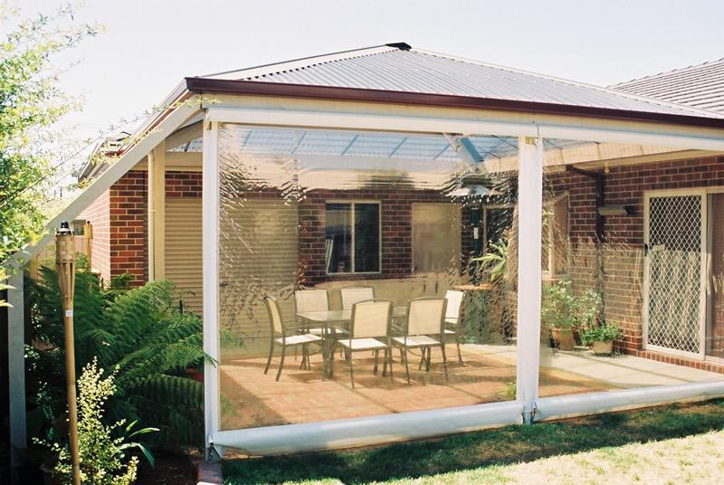 Pvc blinds 1300 mr shutters 1300 mr shutters and blinds for Outdoor entertainment area on a budget